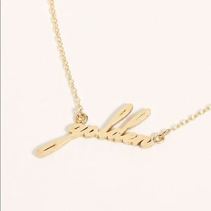 "NEW Free People x Thatch ""golden""Script Necklace"